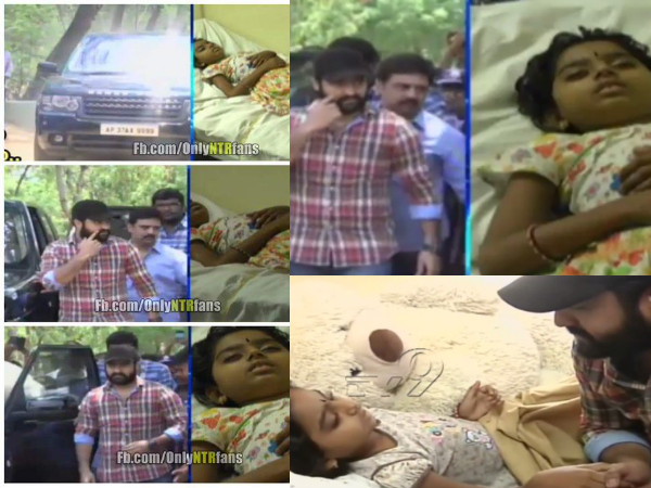 jr-ntr-meets-a-fan-srinidhi-suffering-from-cance