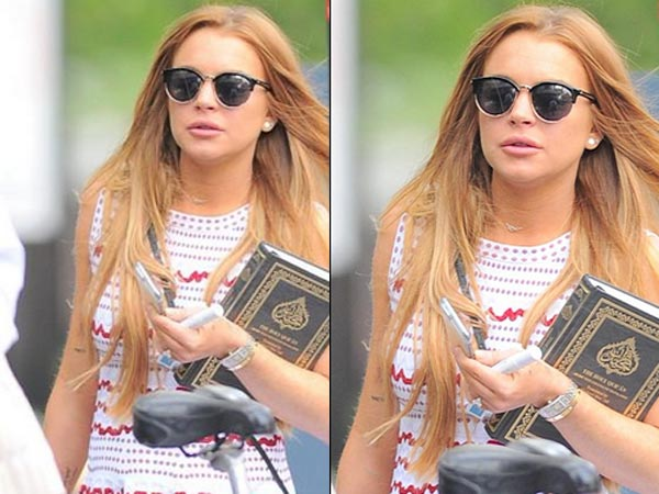Lindsay Lohan Snapped With Quran In Hand, Converting To Islam?