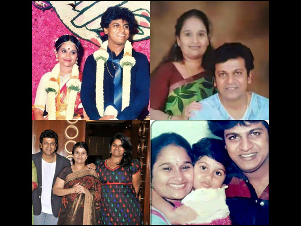 A Collaged Image Of Shivanna With His Family Members