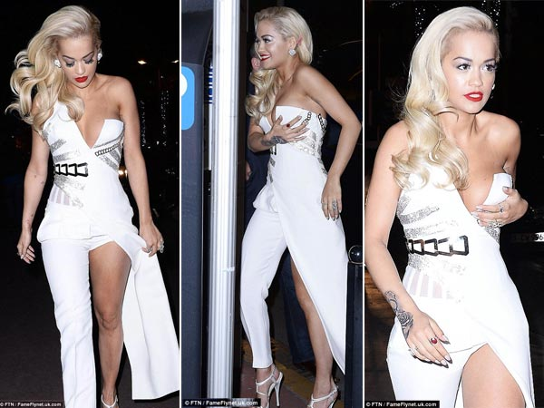 Cannes 2015 Rita Ora Nearly Escapes Nip Slip