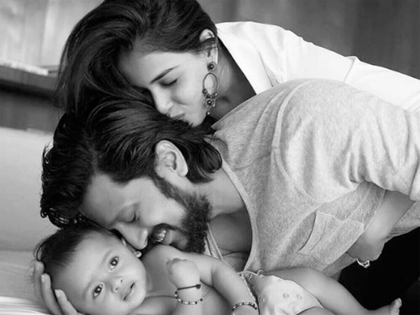 Riteish With Riaan And Genelia