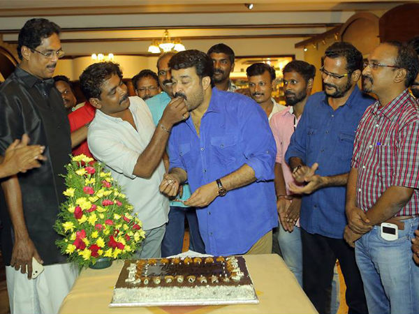 Mohanlal's Birthday Celebration On The Sets Of Kanal