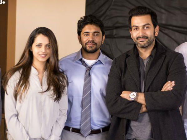 Prithviraj And Nivin With Bhavana
