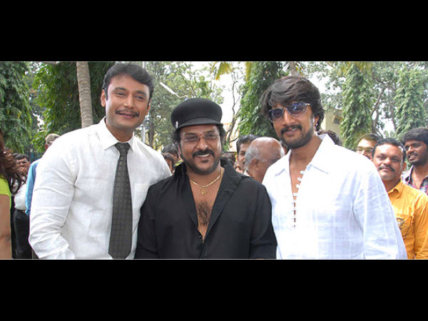 Darshan And Sudeep With Crazy Star