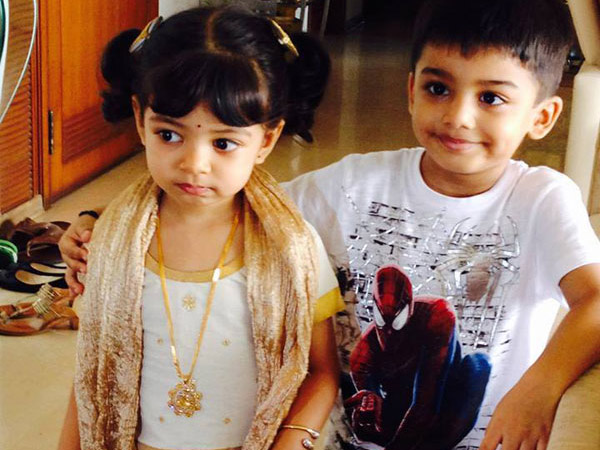 Aaradhya With Cousin