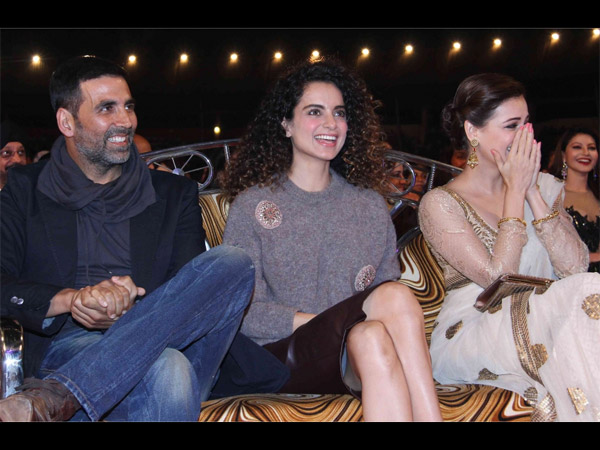 Akshay, Kangana And Dia