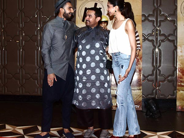 Deepika, Ranveer And Aamir