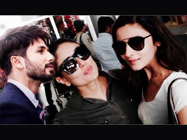 Shahid, Kareena And Alia