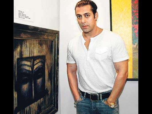 Salman With His Painting
