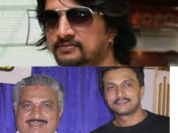 Sudeep And His Father Sanjeev Manjappa