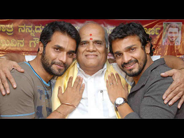 Vijay Raghavendra And Srimurali With Father S. A. Chinne Gowda