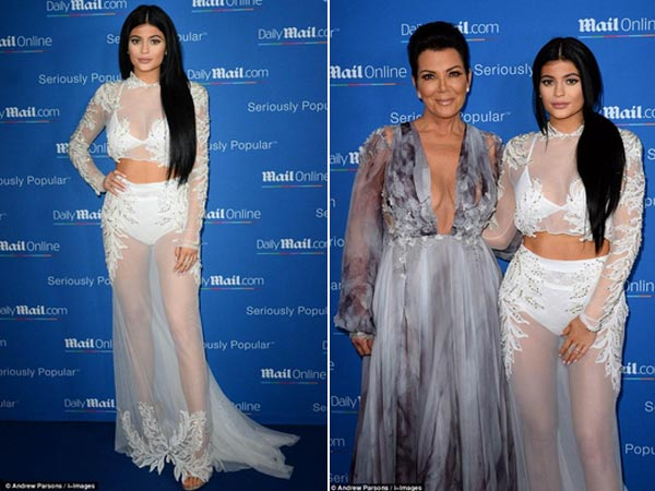 Kylie Jenner Goes Sheer, Flaunts Curves At Cannes
