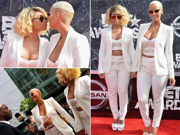 Amber Rose, Blac Chyna Kiss at BET Awards Red Carpet!