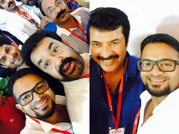 Star Selfie From AMMA Meet