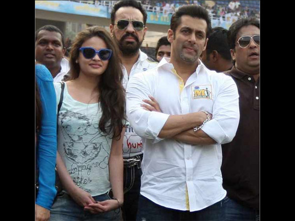 Salman With Sneha