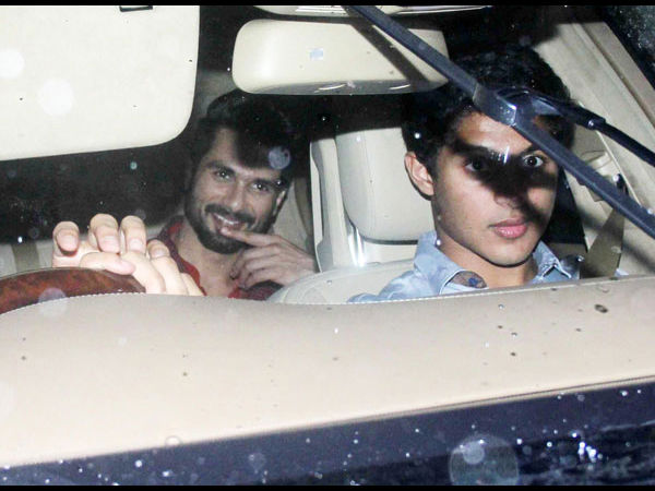 Shahid Arriving For Sangeet
