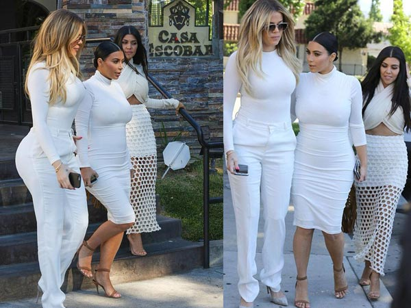 Kim Kardashian's White Dress Just Flaunted Her Assets!