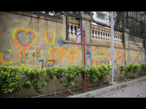 Sharukh Khan Mannat Wall