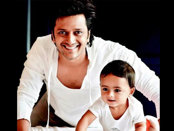 Riteish Posing With Riaan