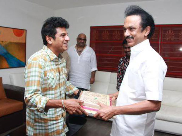 Shivarajkumar With MK Stalin