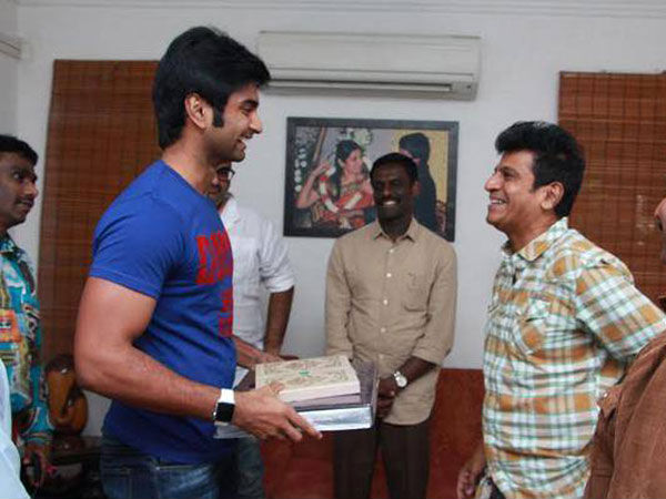 Shivanna With Actor Adharvaa