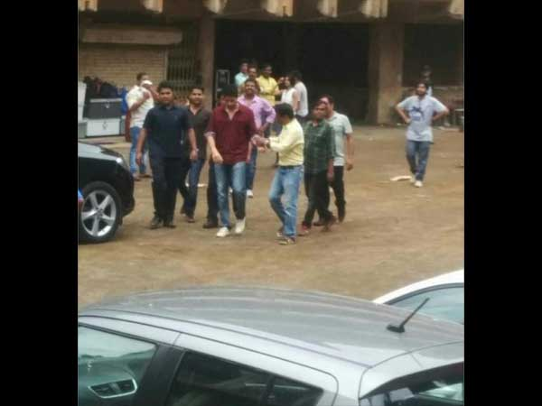 Sidharth Looking Busy During Shoot