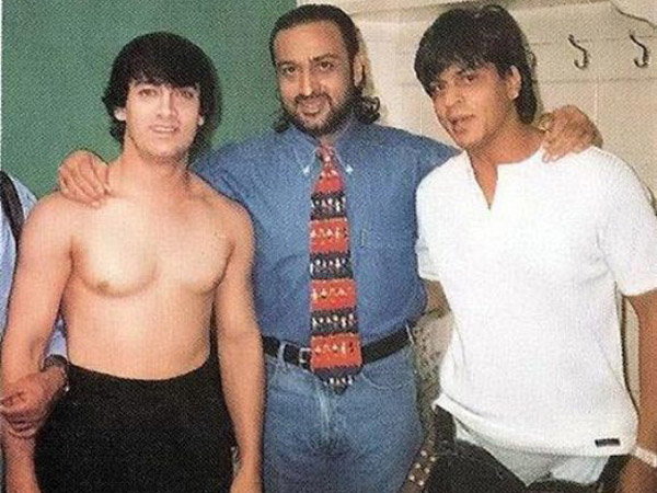 Shahrukh With Aamir And Gulshan Grover