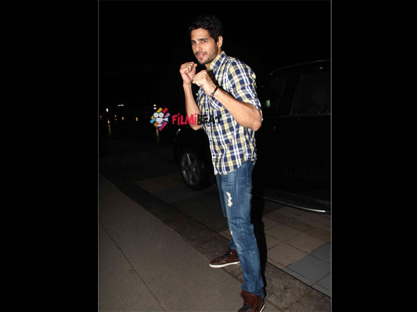 Sidharth Malhotra Outside The Theatre