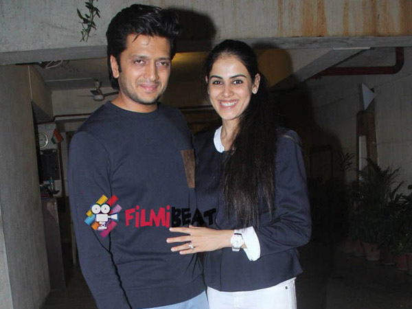 Riteish Deshmukh With His Wife