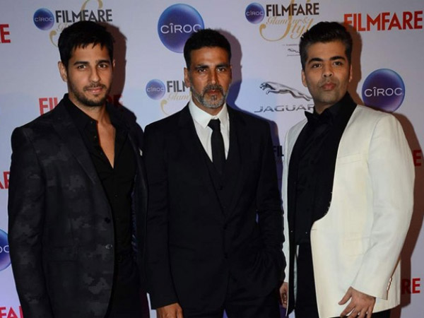 Akshay-Sidharth Spotted With Karan Johar