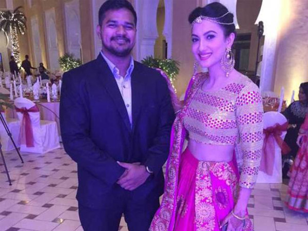 Gauhar At The Reception