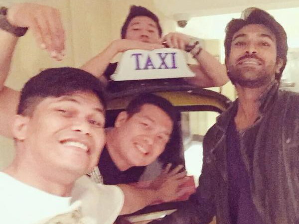 Charan with Jaika Stunts Team