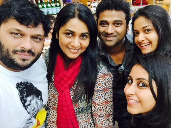 DSP And Keerthy Suresh With Other Celebs