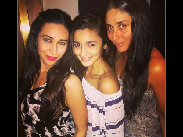 Alia With Kapoor Sisters