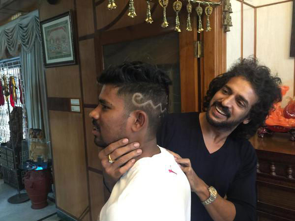 Upendra With One Of His Fan!