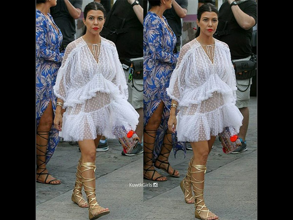Kris, Kendall, Kourtney & Khloe Flaunt Legs While Kim Goes Simple For Shopping