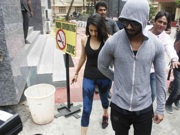 Shahid With Wife