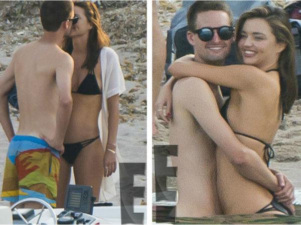 Miranda kerr beau evan spiegel 39 s pda packed beach - Evan spiegel miranda kerr ...