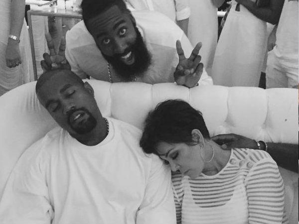 04e980ea127 PICS  Khloe Kardashian Throws A Lavish Yacht Party For Beau James Harden