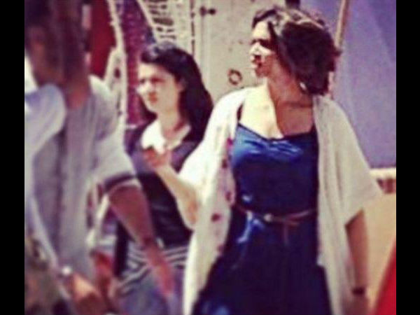 Deepika From The Shoot Location
