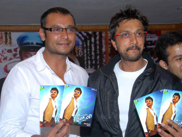 Sudeep And Darshan At Chingari Audio Release