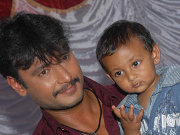 Challenging Star Darshan With Son Vineeth