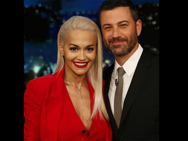 Red Hot Rita Ora Goes Braless, Later Performs Skit At Jimmy Kimmel Live