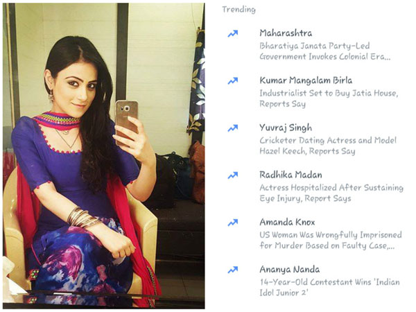 After Accident, Meri Aashiqui Tum Se Hi's Radhika Madan Trends On Facebook; Thanks Fans For Wishes!