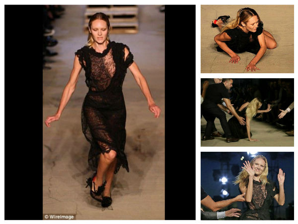 Oops! Candice Swanepoel Falls On Stage At NYFW's Givenchy Show