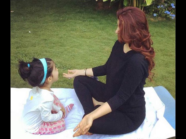 Nitara Exercising With Her Mom