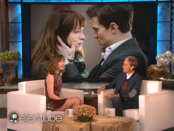 WATCH: Ellen DeGeneres Gifts Dakota Johnson A Flogger, Riding Crop & Handcuffs