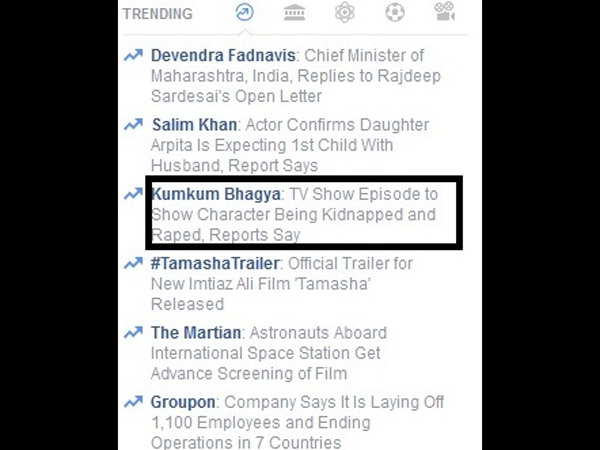 Kumkum Bhagya Trending On Facebook
