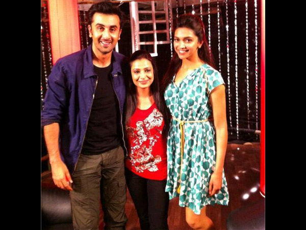 Ranbir-Deepika With Fan