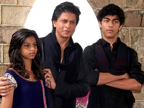 shahrukh khan spends time with his children shahrukh khan